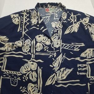 Hilo Hattie Hawaiian Shirt Button Front Women's M